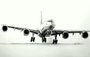 airplane charcoal